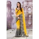 Tranquil Off White And Yellow Printed Saree