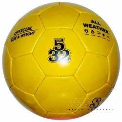Unispo Pvc Yellow Soccer Practice Ball, 32, Size: 5