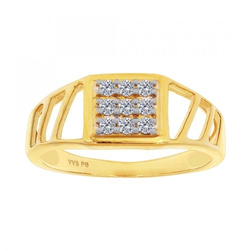 Rings Gents Gold Diamond Fancy Ring Retailer From Ludhiana