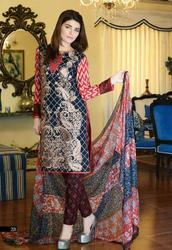 Classic Embroidered Lawn suit