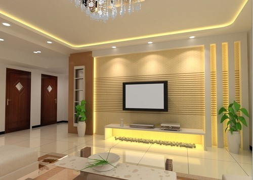 Wooden Interior Decoration Living Room Vivan Enterprises Private