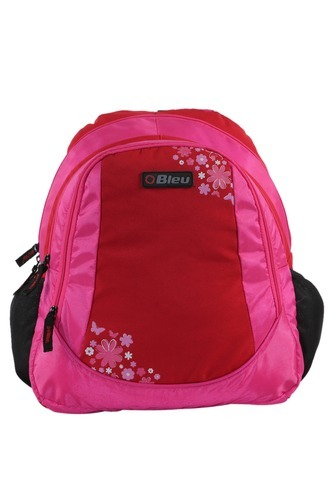 Bleu Plain Red & Pink Hot Style Casual Backpack