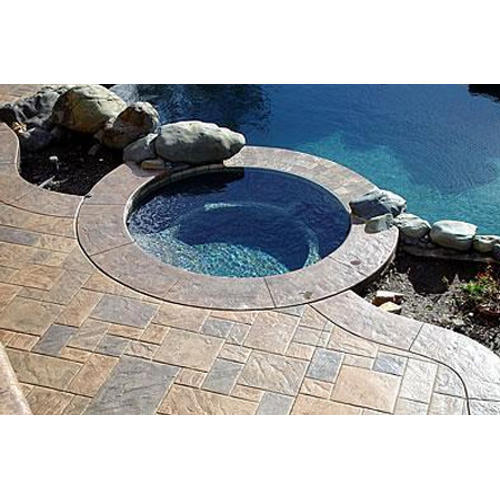Stamped Concrete Pool Deck Service, For Flooring