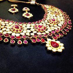Kundan Polki Ruby Necklace Set
