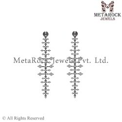 Wholesale 92.5 Sterling Silver Diamond Earring