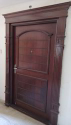 Polished Brown Single Wood Door With Arch, Polish, Thickness: 30mm