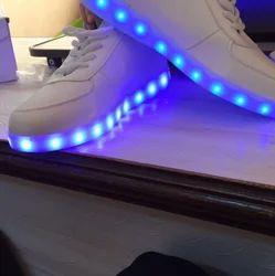 White Color LED Shoe, Size: 7-9