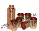 Copper Hammered Jug Glass Set Diwali Gifting/Corporate Gifting