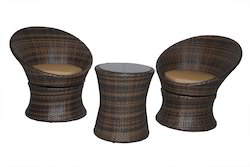 Revolving Outdoor Wicker Coffee Set