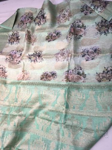 Printed Banarasi Silk Sarees