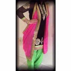 Patiala Salwar Hand Embroidered Punjabi Suit