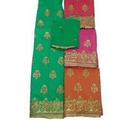 Banarasi Silk Unstitched Suit, Ladies Unstitched Suits - Chahat ...