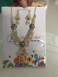Silver Plated Imitation Necklace Set