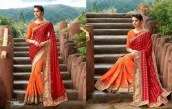 Heavy Embroidered Designer Saree