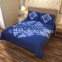 Ethnic Tie Dye Bed Covers with Two Pillow