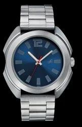 Metal Analog Watch Silver