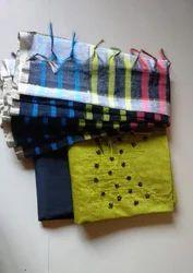 Regular Wear Green Chanderi Materials