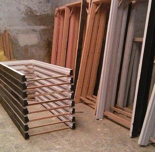 Teak Wood Door Frames Door Window Frame Panel