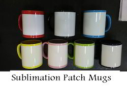 Sublimation Patch Mugs - Color Patch Mugs