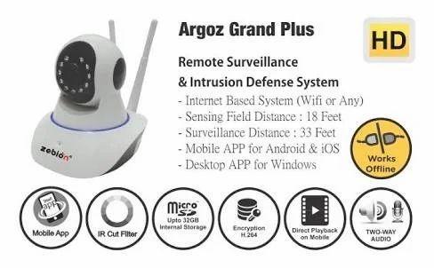 Zebion Argoz Grand Plus Wireless Cctv Camera