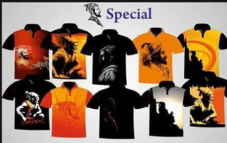 men and boys small and xl shivaji maharaj special digital print t