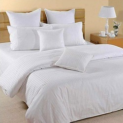 Cotton Double Hotel Bed Sheet, 110 x 110 Inch