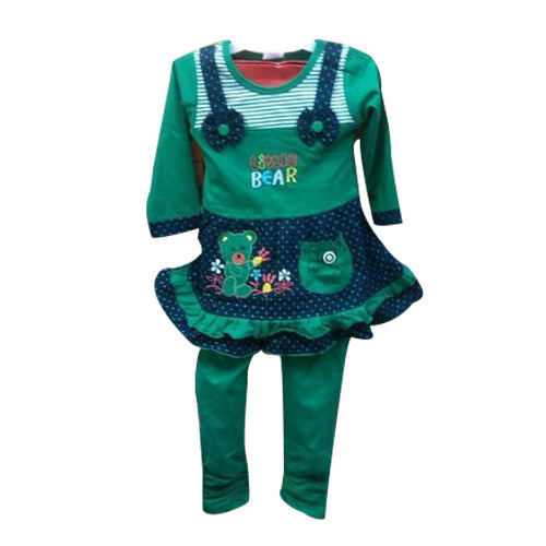 1a52c2498c7 Green Girls Hosiery Dress at Rs 200  piece