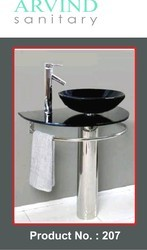 Bowl Self Mirror Basin Vanity Set