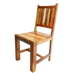 K D Craft Exports Industrial Reclaimed Wood Dining Chair