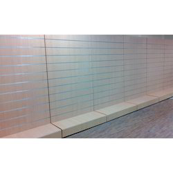 Stainless Steel Gray Finish Slat Wall Display