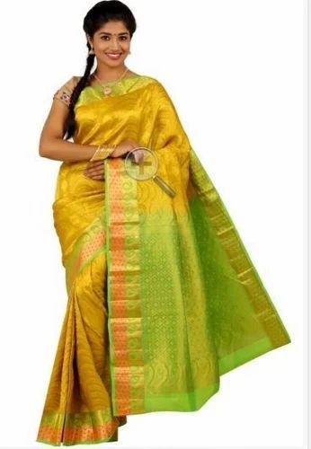 da2e48f85e262b Silk Sarees - Green Colored Semi Silk Saree Manufacturer from Coimbatore