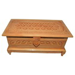 Rectangle Brown Wooden Fine Jaali Work Jewelry Box