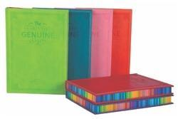 Synthetic Pu Leather Business Dairy Diary with Edge Color, For Daily Notes, Yearly