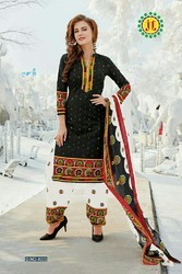 Regular Wear Printed Cotton Dress Material, Gsm: 50-100