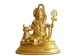 Gold Plated Shivji Statue