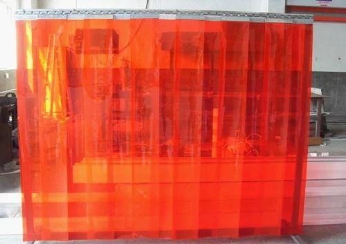 Orange Flexible Pvc Strip Curtain Size 0 05 4mm Length