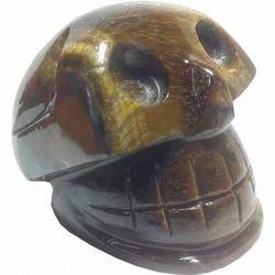 Aldomin Tiger Eye Healing Crystal Skull