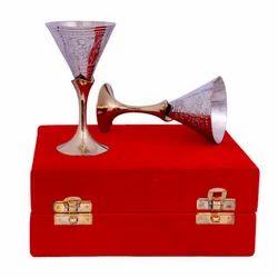 Brass Silver Plated WineGlass