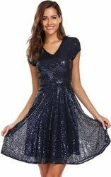 Sequined Short Dress