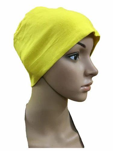 Yellow Chemo Beanies Cancer Caps Women Summer Chemo Caps Sleep ... 7f23119ec2c