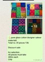 Pure Glace Embroidery Designer Salwars