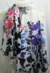 Poly  Floral Printed Scarves