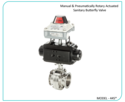 Pneumatic Sanitary Rotary Actuated Butterfly Valve