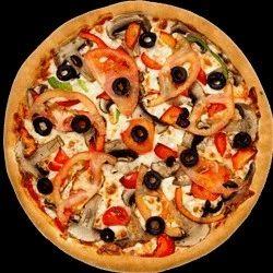 Small, Large Pizza Marky Momos Kota