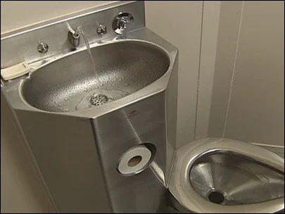 Stailess Steel Prison Toilet Jail Toilet With Washbasin