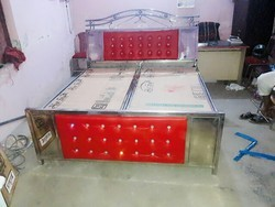 Stainless Steel Frame Double Bed