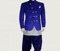 Blue Kurta Pyjama Waistcoat