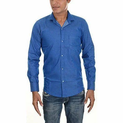 6bd97a2edc4 Mens Plain Shirt - Mens Plain Blue Shirt Manufacturer from Ahmedabad