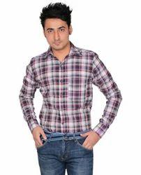 Check Mens Cotton Shirt