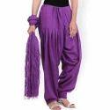 Designer Cotton Patiala Salwar With Dupatta